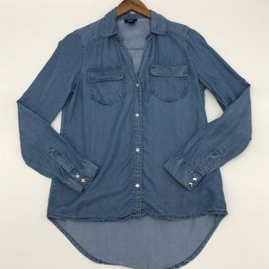 Mossimo Chambray Snap Front Top